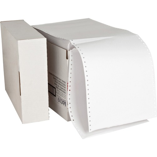 """Sparco Continuous Paper - White - 8 1/2"""" x 11"""" - 20 lb Basis Weight - 2550 / Carton"""