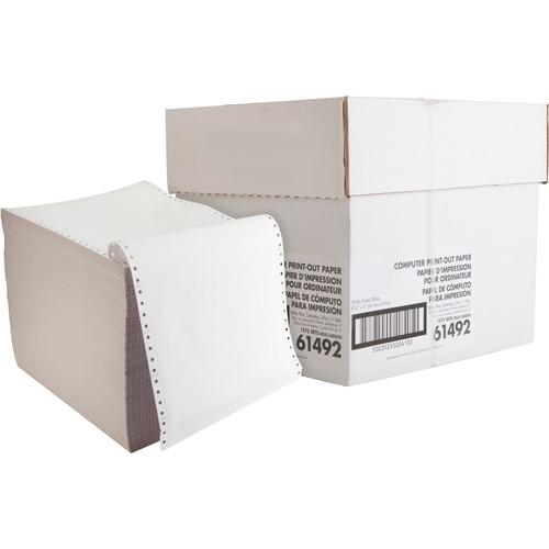 "Sparco Dot Matrix Carbonless Paper - White - Letter - 8 1/2"" x 11"" - 15 lb Basis Weight - 1575 / Carton"