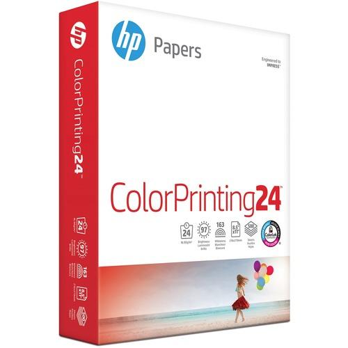 """HP Inkjet Inkjet Paper - White - 96 Brightness - Letter - 8 1/2"""" x 11"""" - 24 lb Basis Weight - 500 / Ream - SFI"""