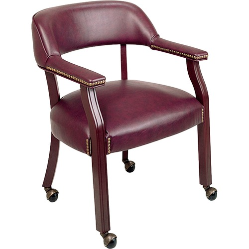 Cool Lorell Traditional Captain Side Chair With Casters Apex Evergreenethics Interior Chair Design Evergreenethicsorg