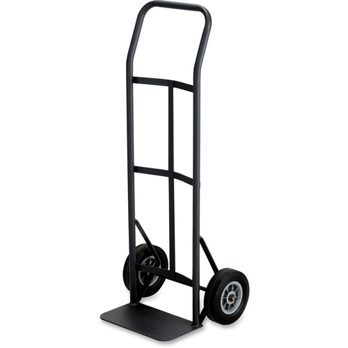 """Safco Tuff Truck Continuous Handle - 181.44 kg Capacity - 8"""" (203.20 mm) Caster Size - x 19.5"""" Width x 14.5"""" Depth x 45.5"""" Height - Steel Frame - Black - 1 Each"""