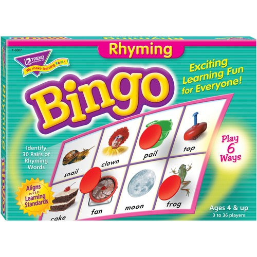 Trend Rhyming Bingo Game - Theme/Subject: Learning - Skill Learning: Vocabulary, Spelling, Rhyming, Word - 4 Year & Up - Multi