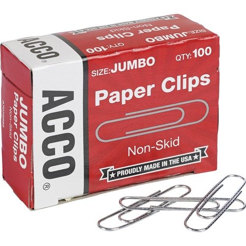 72365 ACCO Recycled Paper Clips 100//Box 10 Pack