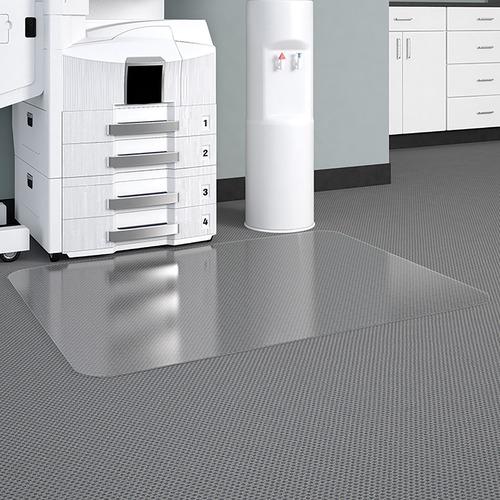 "Deflecto Glass Clear DuraMat for Carpets - Home, Office - 53"" Length x 45"" Width - Lip Size 12"" Length x 25"" Width - Vinyl - Clear"