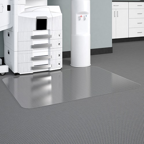 """Deflecto Glass Clear DuraMat for Carpets - Home, Office, Carpeted Floor - 60"""" Length x 46"""" Width - Vinyl - Clear"""