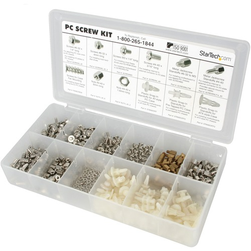 StarTech.com Deluxe Assortment PC Screw Kit - Screw Nuts and Standoffs - Plastic