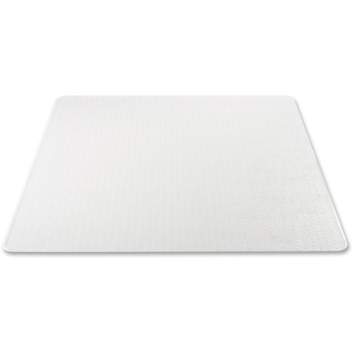 """Deflecto Anti-Static Chairmat for Carpets - Carpeted Floor - 60"""" Length x 46"""" Width - Vinyl - Clear"""