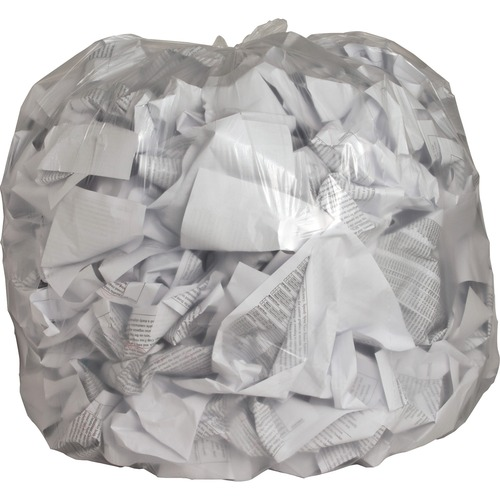 """Genuine Joe Clear Trash Can Liners - 45 gal - 40"""" Width x 46"""" Length x 0.60 mil (15 Micron) Thickness - Low Density - Clear - Film - 250/Carton - Mult"""