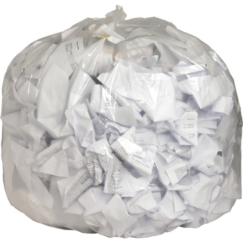 """Genuine Joe Clear Trash Can Liners - 56 gal - 43"""" Width x 48"""" Length x 0.80 mil (20 Micron) Thickness - Low Density - Clear - Film - 100/Carton - Mult"""