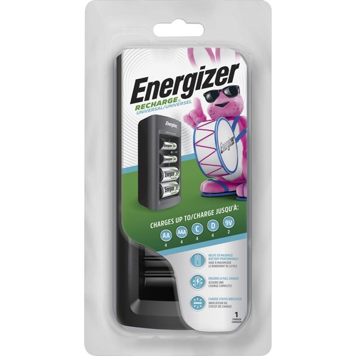 Energizer Family Size NiMH Battery Charger - 1 Each - 12 V DC Input