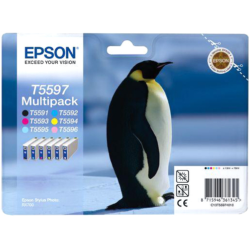 Epson T5597 Ink Cartridge - Cyan, Magenta, Yellow, Photo Cyan, Photo Magenta