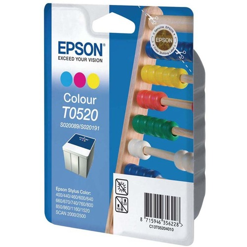 Epson T0520 Ink Cartridge - Cyan, Magenta, Yellow
