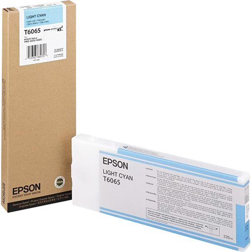 Epson T606500 220 ml Light Cyan UltraChrome Ink Cartridge