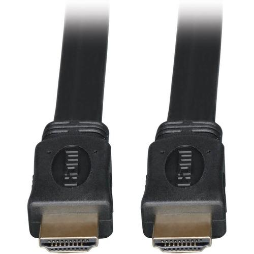 Tripp Lite High Speed HDMI Flat Cable Ultra HD 4K x 2K Digital Video with Audio (M/M) Black 6ft
