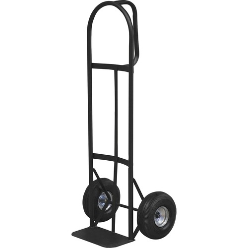 """Sparco Heavy-Duty D-Handle Hand Truck - D-shaped Handle - 362.87 kg Capacity - 10"""" (254 mm) Caster Size - x 19"""" Width x 20"""" Depth x 50"""" Height - Charcoal Gray - 1 Each"""