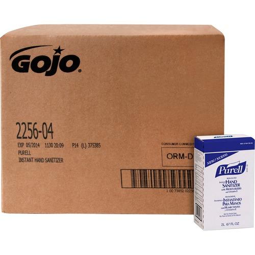 PURELL® Sanitizing Gel - 67.6 fl oz (2 L) - Hand - Clear - Dye-free - 4 / Carton