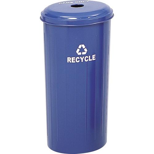 "16/""x30/"" Steel Blue SAF9632BU 20 Gallon Recycling Receptacle"