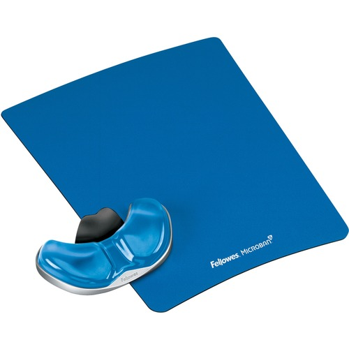 "Fellowes Gliding Palm Support with Microban® Protection - 0.8"" x 9"" x 11"" Dimension - Blue - Acrylonitrile Butadiene Styrene (ABS), Gel"