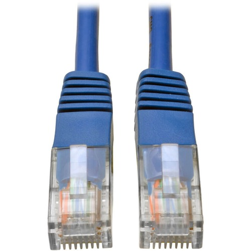 Tripp Lite 2ft Cat5e / Cat5 350MHz Molded Patch Cable RJ45 M/M Blue 2'