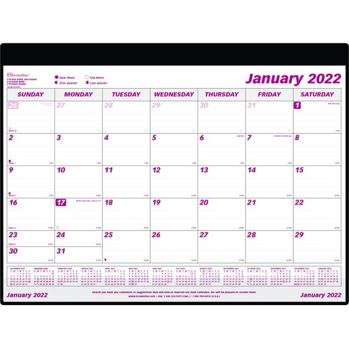 image about Monthly Planning Calendar referred to as Brownline Refillable Regular Table/Wall Calendar Pad - Regular monthly - 1 Yr - January 2020 right up until December 2020 - 1 Thirty day period One Website page Design and style - 23 1/2\