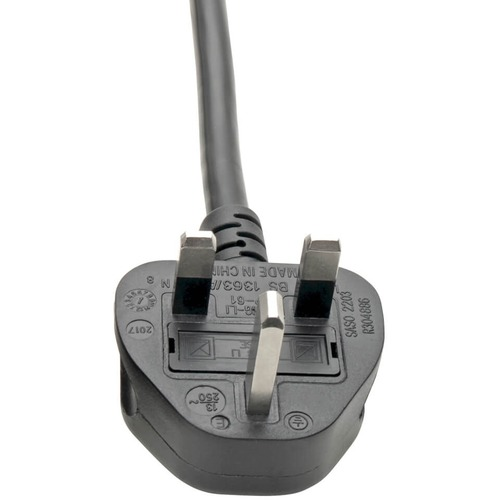 Tripp Lite 8ft Computer Power Cord UK Cable C19 to BS-1363 Plug 13A 8'