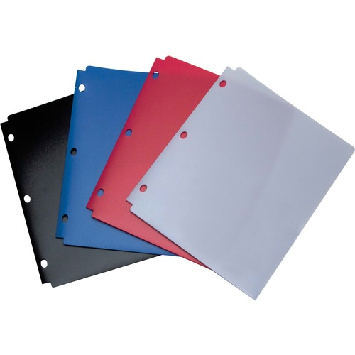 "Business Source Ring Binder Pockets w//Zipper Plastic 7HP 9-1//2/""x6/"" 24//BX CL"