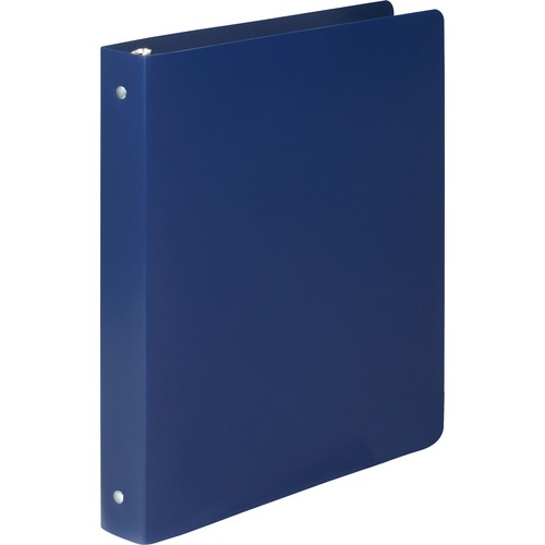 """Acco Accohide Round Ring Binder - 1/2"""" Binder Capacity - Letter - 8 1/2"""" x 11"""" Sheet Size - 100 Sheet Capacity - 23 pt. Binder Thickness - Poly - Blue - 1 Each"""