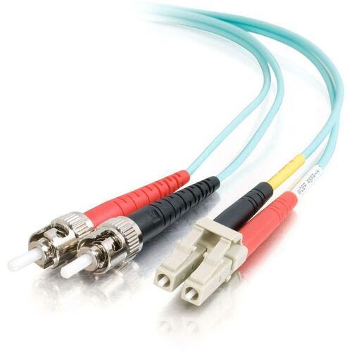 Patch Cable - LC-Multimode - ST-Multimode - 2 M - Aqua
