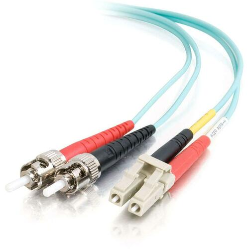 3m LC-ST 10Gb 50/125 OM3 Duplex Multimode PVC Fiber Optic Cable   Aqua