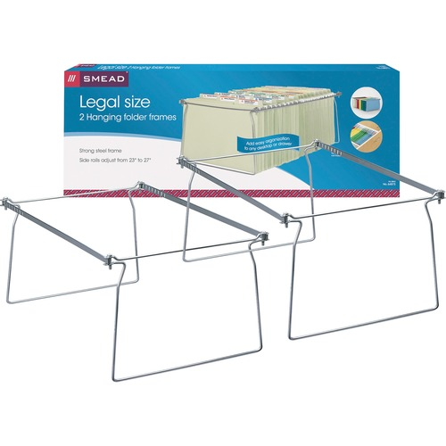 "Smead Hanging Folder Frames - Legal - 23""-27"" Long - Steel - Gray - 2 / Pack"
