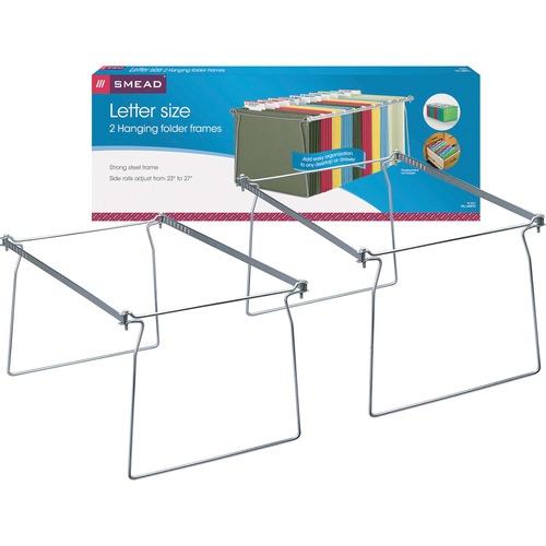 "Smead Hanging Folder Frames - Letter - 23""-27"" Long - Steel - Gray - 2 / Pack"