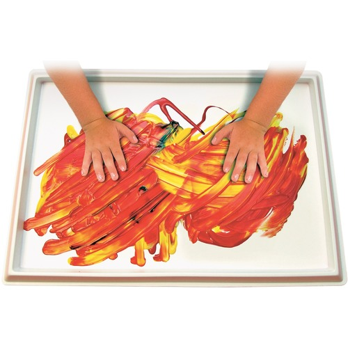 """Roylco Fingerpaint No Mess Tray - Paint, Modelling Clay, Classroom, Project - 12"""" (304.80 mm)Width x 18"""" (457.20 mm)Length - 1"""