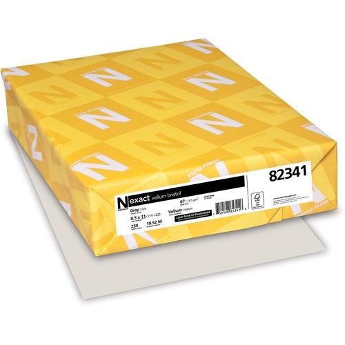 "Exact Vellum Bristol Laser, Inkjet Vellum Paper - Gray - 92 Brightness - Letter - 8 1/2"" x 11"" - 67 lb Basis Weight - Vellum - 250 / Pack - FSC"