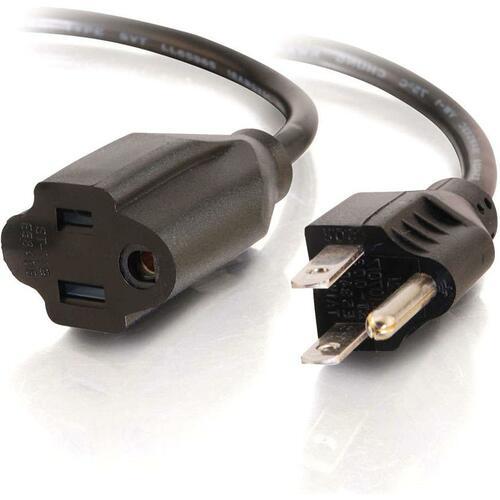 C2G 8ft 16 AWG Outlet Saver Power Extension Cord (NEMA 5-15P to NEMA 5-15R)