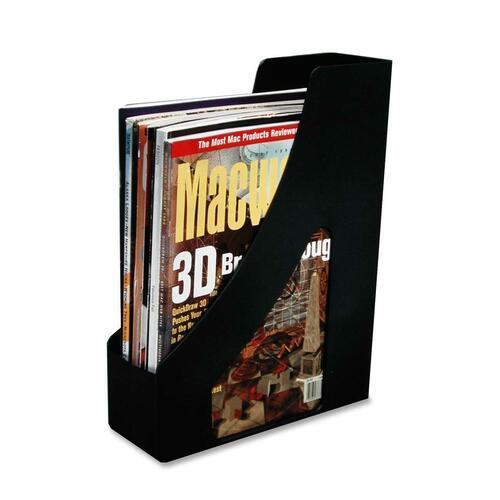 Fellowes 00434 Orderly Magazine File - Black - Plastic - 1 Each