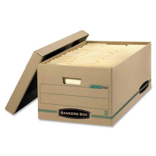 """Bankers Box Earth Storage Box - External Dimensions: 15"""" Width x 24"""" Depth x 10""""Height - Media Size Supported: Legal - Lift-off Closure - Medium Duty"""