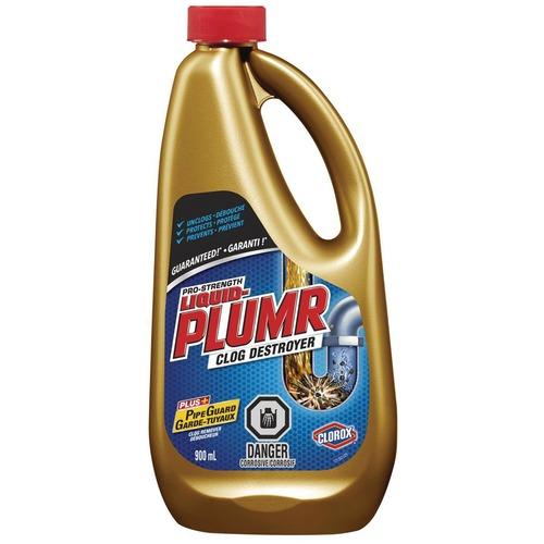 Liquid-Plumr Pro Gel Drain Cleaner - Liquid - 30.4 fl oz (1 quart) - 1 Each
