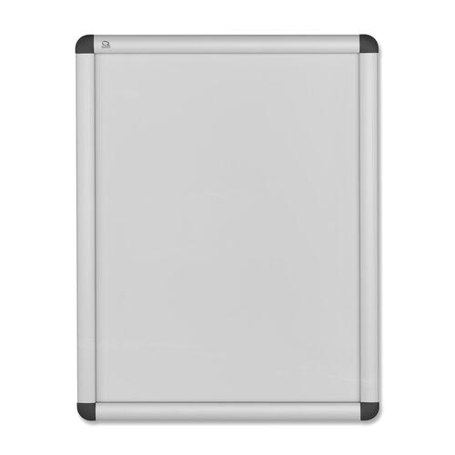 "Quartet Clipdown Display Frame - 8.50"" (215.90 mm) Height x 11"" (279.40 mm) Width - Fabric Surface - Aluminum Frame - 1 Each"