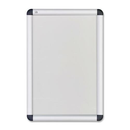 "Quartet Clipdown Display Frame - 11"" (279.40 mm) Height x 17"" (431.80 mm) Width - Fabric Surface - Aluminum Frame - 1 Each"