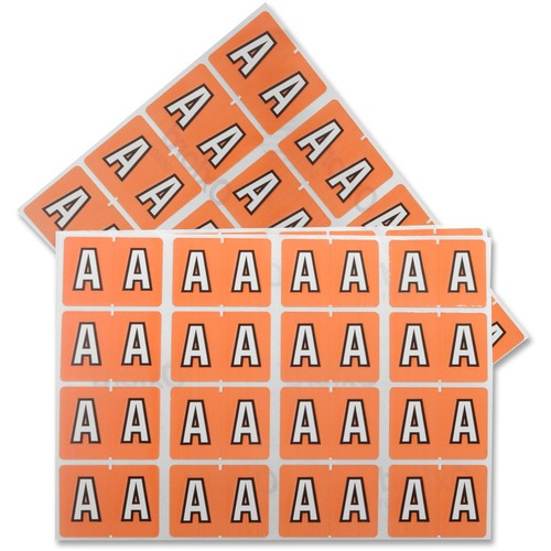 "Pendaflex Color Coded Label - ""Alphabet"" - 1 1/4"" x 15/16"" Length - Rectangle - Pink - 240 / Pack"