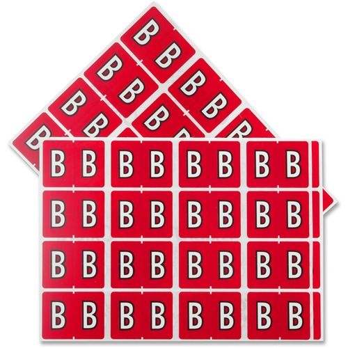 """Pendaflex Color Coded Label - """"Alphabet"""" - 1 1/4"""" x 15/16"""" Length - Rectangle - Red - 240 / Pack"""