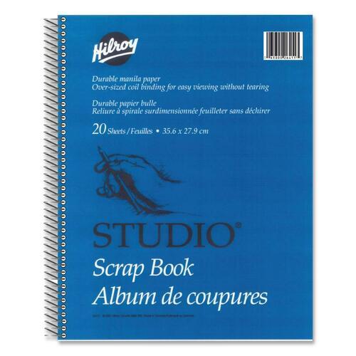 "Hilroy Coil Scrapbook - 20 Capacity - 14"" (355.60 mm) Width x 11"" (279.40 mm) Length"