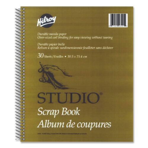 "Hilroy Studio Scrapbook - 30 Capacity - 12"" (304.80 mm) Width x 10"" (254 mm) Length"