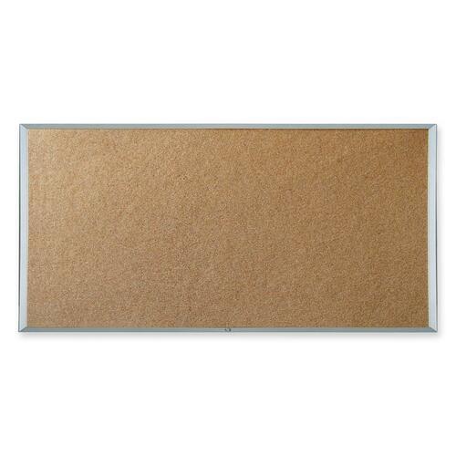 "Quartet Wesco Economy Cork Board - 96"" (2438.40 mm) Height x 48"" (1219.20 mm) Width - Cork Surface - Aluminum Frame - 1 Each"