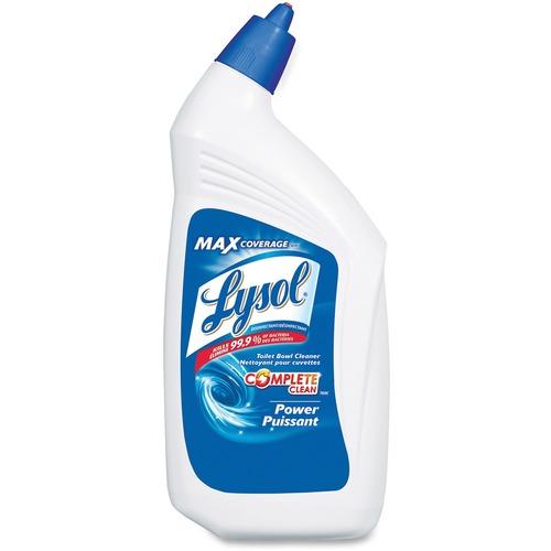 Lysol Professional Bathroom Cleaner - Liquid - 33.8 fl oz (1.1 quart) - 1 Each - Blue, Green