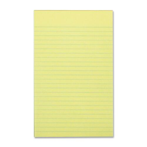 """Hilroy Canary Figuring Pad - 64 Sheets - Front Ruling Surface - 0.25"""" Ruled - 5"""" x 8"""" - Canary Paper - 1Each"""