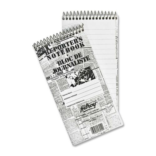 """Hilroy Reporter's Notebook - 160 Pages - Spiral - 4"""" x 8"""" - Stiff-back - 1Each"""