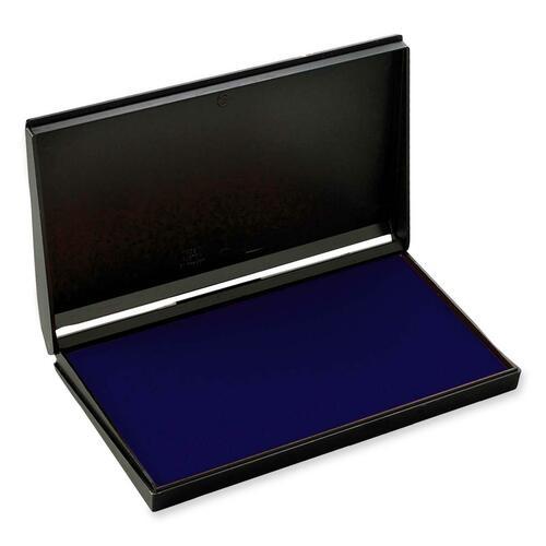 """Trodat Re-Inkable Stamp Pad - 1 Each - 6.38"""" (161.93 mm) Width x 3.56"""" (90.49 mm) Depth - Blue Ink"""