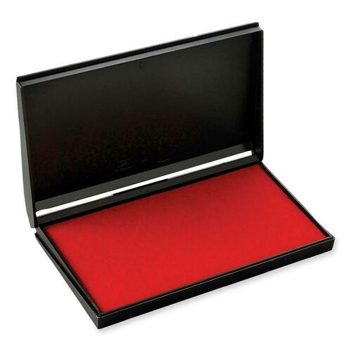 """Trodat Re-Inkable Stamp Pad - 1 Each - 6.38"""" (161.93 mm) Width x 3.56"""" (90.49 mm) Depth - Red Ink"""