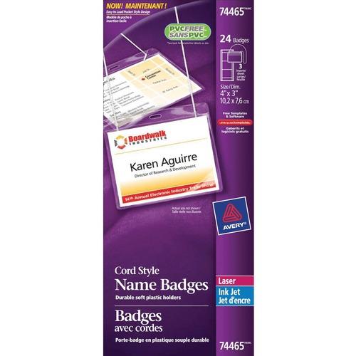 Avery® 74465 Laser/Inkjet Badge Insert - 24 / Pack